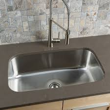 undermount kitchen sink stainless steel: clark stainless steel extra large single bowl undermount kitchen sink