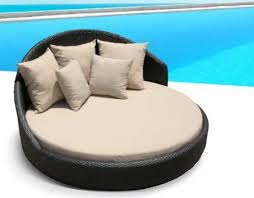 amazoncom outdoor wicker patio furniture pool lounge all weather round double bed set amazoncom patio furniture