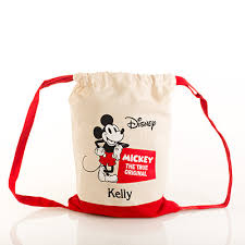 Mickey Mouse Canvas <b>Cinch Sack</b>-Baskets & Containers-Custom ...