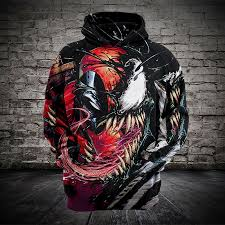 Men 3d Printed Hoodies For Movie <b>Venom</b> Deadpool Men Women ...