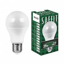 <b>Лампа светодиодная</b> SAFFIT SBA6525 Шар E27 <b>25W 4000K</b> ...