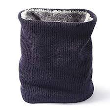 <b>Men</b> Neck Warmer Soft <b>Double Layer</b> Knitted Scarf Women <b>Solid</b> ...