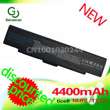 <b>Golooloo 4400MaH 11.1v</b> Black Laptop <b>Battery</b> For Sony Vaio VGN ...