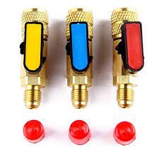 <b>R410A</b> Refrigerant Straight Ball <b>Valves</b> AC <b>Charging Hoses</b> Brass