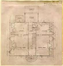 William Waters House Architectural Report  Block   Building A    FIRST FLOOR PLAN  WATERS COLEMAN HOUSE