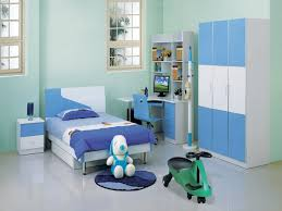 f divine modern boy bedroom design featuring trendy blue and white low profile bed with the best arranging ikea wardrobe furniture beside desk study in blue and white furniture