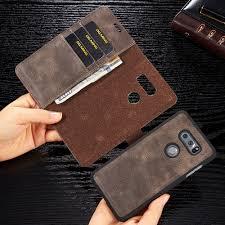 Retro <b>Cowhide Leather Case</b> For LG V20 G6 V30 V30 plus V30+ ...