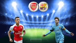 Image result for pics of arsenal vs barca