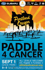 paddle cancer fundraising participating for a great program advertisements