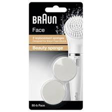 Аксессуар к эпиляторам <b>Braun</b> насадка губка <b>80b Face</b> 2шт ...