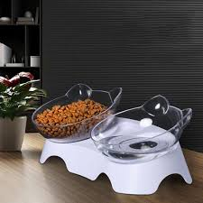 Non-<b>slip Cat Bowl Double</b> Bowls with Raised Stand Pet Food and ...