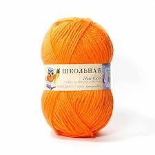 <b>Пряжа Пехорка Школьная Цвет.284</b> Оранжевый, купить в ...