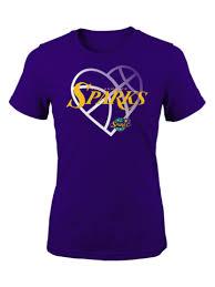 Los Angeles Sparks <b>Girls</b> Faded <b>Heart T</b>-<b>shirt</b>
