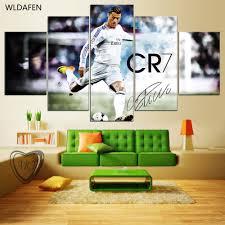 5 Panel <b>Canvas Printed</b> Real Madrid Ronaldo <b>Painting</b> For Living ...