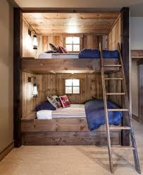 bedroom design idea: such bunk bed would become a rustic island even in a contemporary room