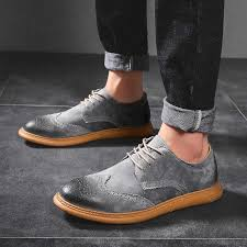 New British Style Casual Brogues Shoes <b>Lazy</b> Sets <b>Breathable</b> ...