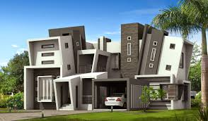 Wonderful Design Ideas Of New Home With White Grey Wall Paint    Wonderful Design Ideas Of New Home With White Grey Wall Paint Colors And Unique Mini st Tiered Floor Style Also Car Port And Glass Large Window Also