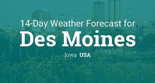Des Moines, Iowa, USA 14 day weather forecast