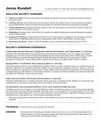 airport security screener resumefree resume templates