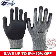 <b>NMSafety</b> High Quality Anti Cut Abrasion <b>Safety Gloves Working</b> ...