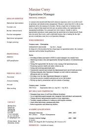 operations manager resume operation manager resume