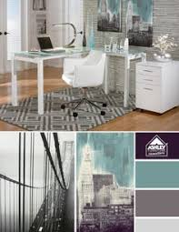 try incorporating white furniture and city inspired art for a modern office look ashley furniture home office desk