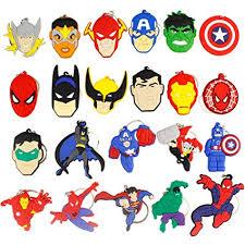Earlywish <b>22pcs</b> Keychain Key Ring Superhero <b>Theme</b> Goodie Bag ...