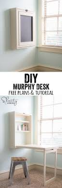 love this diy desk perfect for a small space and can be used for anything bathroomcute diy office homemade desk plans furniture