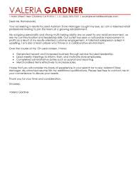 assistant store manager cover letter examples retail cover letter sample