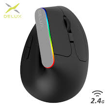 <b>Delux M618C Wireless</b> Ergonomic Vertical <b>Mouse</b> 2.4Ghz Usb ...