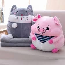 <b>1pc 40cm</b> Kawaii Plush Pig Cat Pillow Stuffed <b>Plush Pillow</b> Toys Pig ...