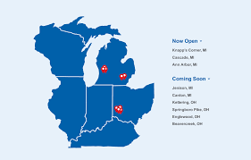 meijer curbside expands to 8 stores in michigan ohio mlive com curbside expansion map jpg