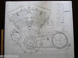 2 harley davidson panhead engine blueprint transmision flh v2 v 2 harley davidson panhead engine blueprint transmision flh v2 v twin print vtg 3