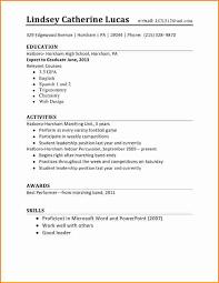 resume templates high school best resume templates high school resume format
