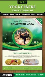 yoga flyer psd template for designyep yoga flyer psd template for