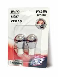 <b>Лампа AVS Vegas</b> CHROME в блистере 12V. <b>PY21W</b>(BAU15S ...