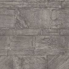 2922-25375 - Murray Dark Grey <b>Stone Wall</b> Wallpaper - by A-Street ...