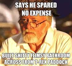 Says he spared no expense Built shitty flimsy bathroom across from ... via Relatably.com
