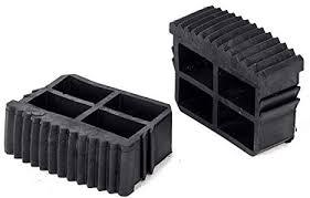 <b>2pcs Black Rubber</b> Inner Plug Foot Pad Replacement Step Ladder ...
