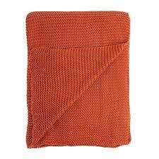 <b>Плед жемчужной вязки терракотового</b> цвета 180х220 — купить ...