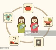 moms duties housekeeping and maternity vector art   getty imagesmom    s duties  housekeeping and maternity