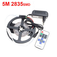 <b>RGB</b> 5M <b>2835 SMD</b> 300s <b>LED Strip</b> Light + 11keys Mini RF Wireless ...