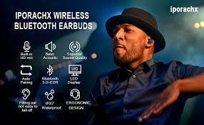 wireless headphone waterproof touch control