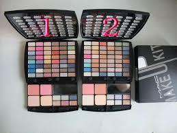 mac eyeshadow and foundation and blush makeup kit