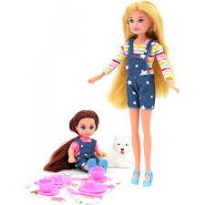 <b>Funky Toys Кукла</b> Мила 23 см с <b>куклой</b> Вики 12 см с собачкой и ...