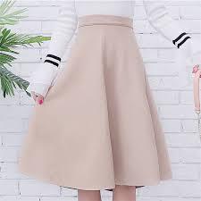 Neophil <b>Women</b> Suede High Waist Midi Skirt <b>2019 Winter Vintage</b> ...