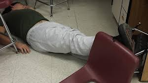 It is finals week. This guy fell out of his chair onto the floor ... via Relatably.com