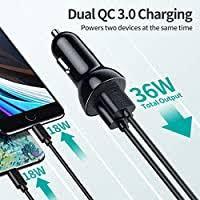 Car Charger, <b>CHOETECH Quick Charge</b> 36W Dual QC3.0 USB Fast ...