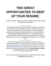 two great opportunities to beef up your resume braitman studio two great opportunities to beef up your resume