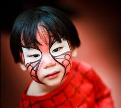 spiderman makeup for got no time for a mask